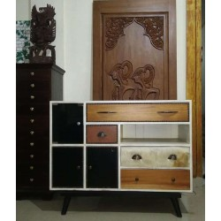 Country Leather Credenza