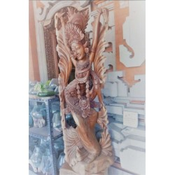 Bali Dancer Wood Statue