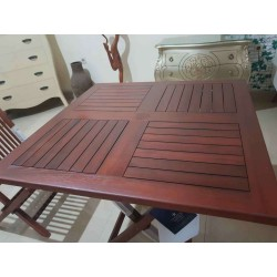 Teak Wood Square Folding Table
