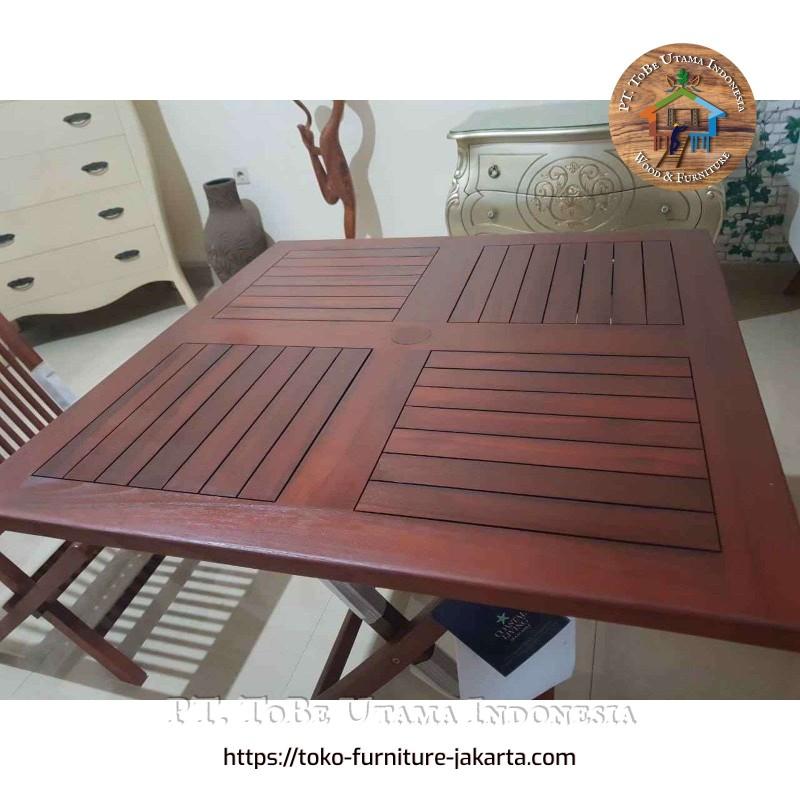 Teak Wood Square Folding Table