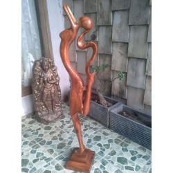 Trembesi Wood Single Statue