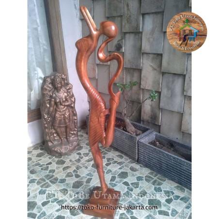 Trembesi Wood Single Statue