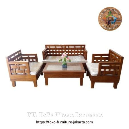 Teak Wood Waeving Set Furniture Jakarta Tangerang Indonesia