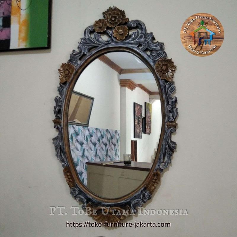 Mirror Rustic Oval