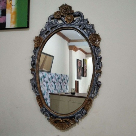 Mirror Rustic Oval